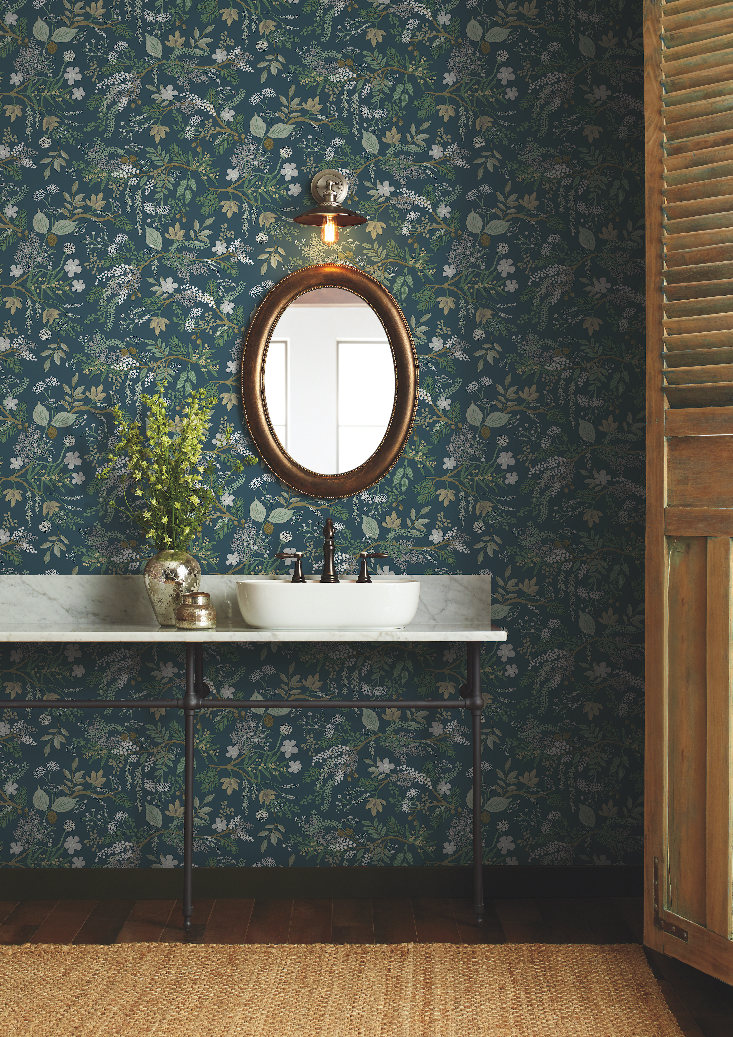 Rifle Paper Co S Peel And Stick Wallpaper Is Photo Ready Hunker